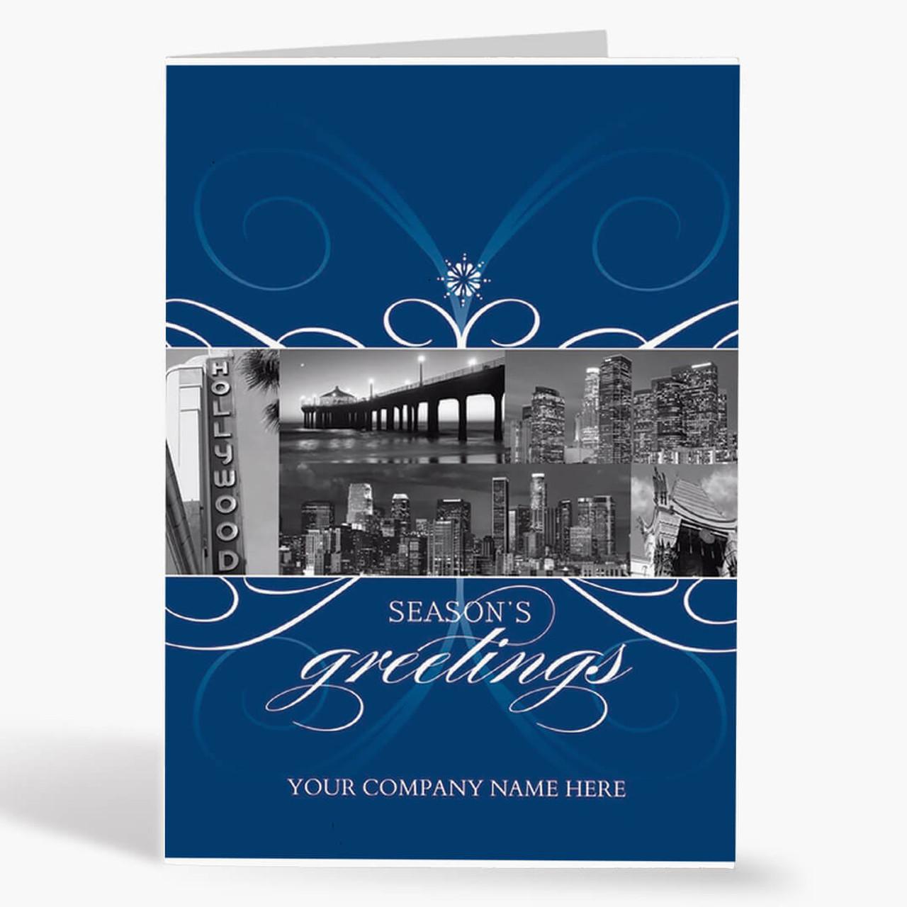 Los Angeles City Florish Christmas Card
