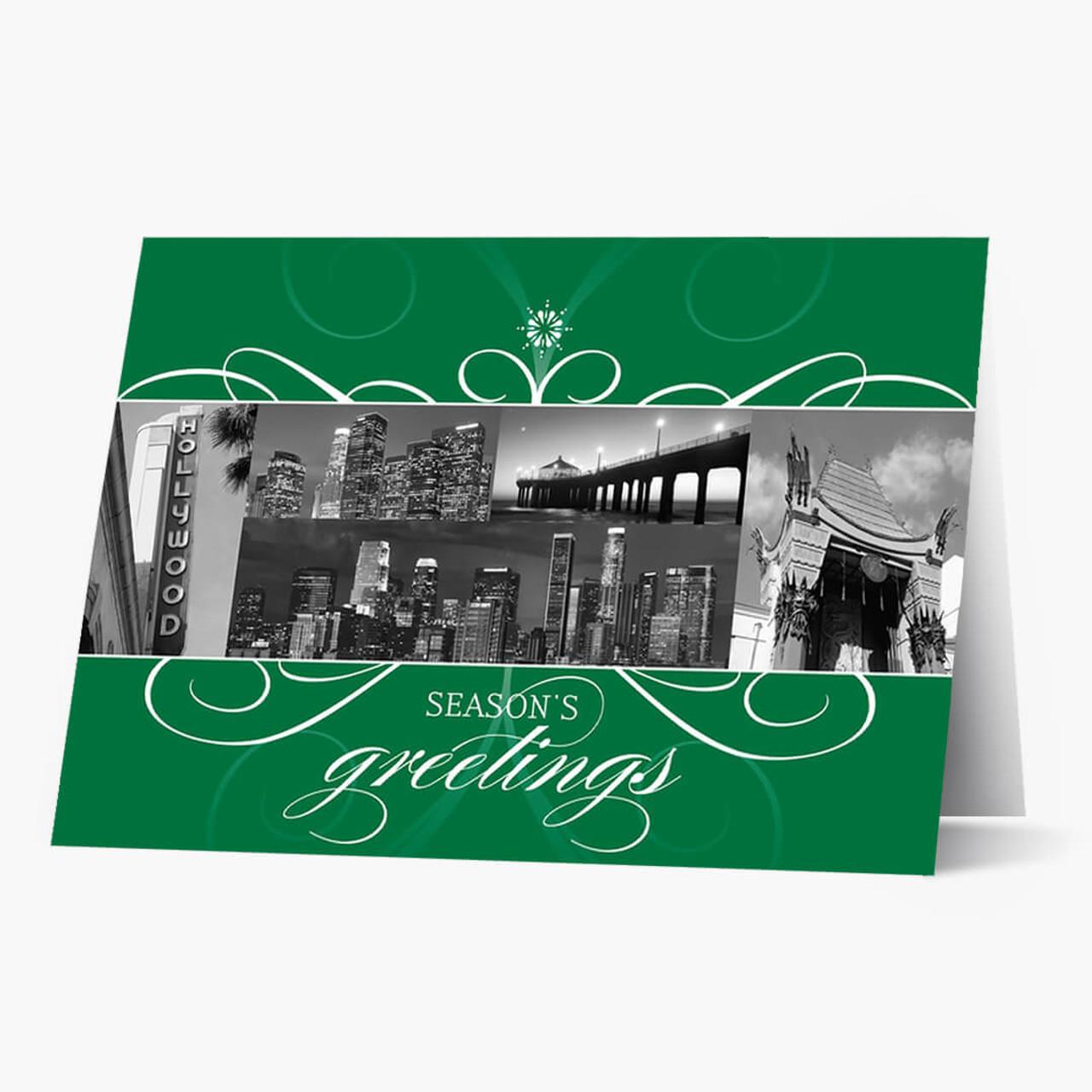 Los Angeles Florish Christmas Card