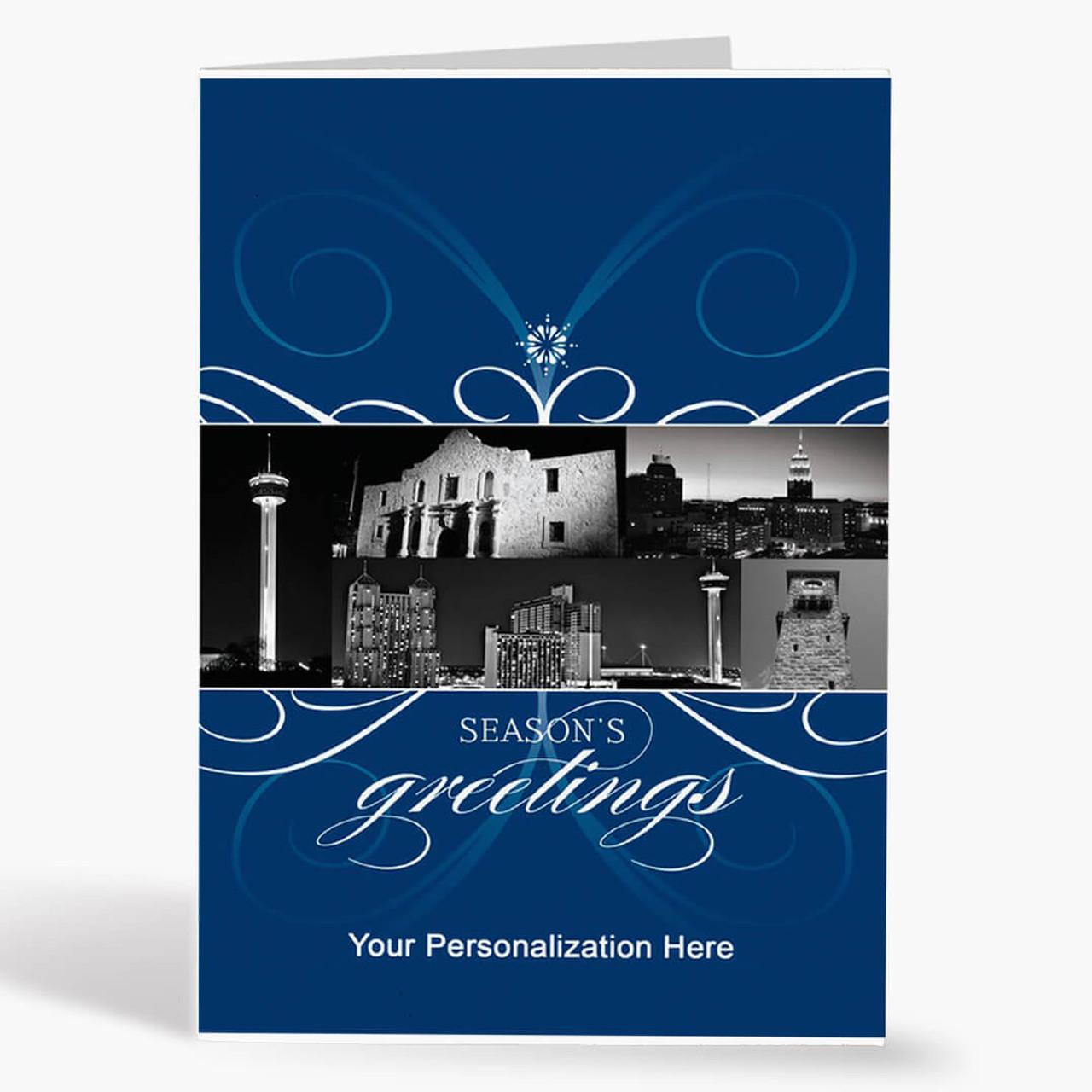 San Antonio City Florish Christmas Card