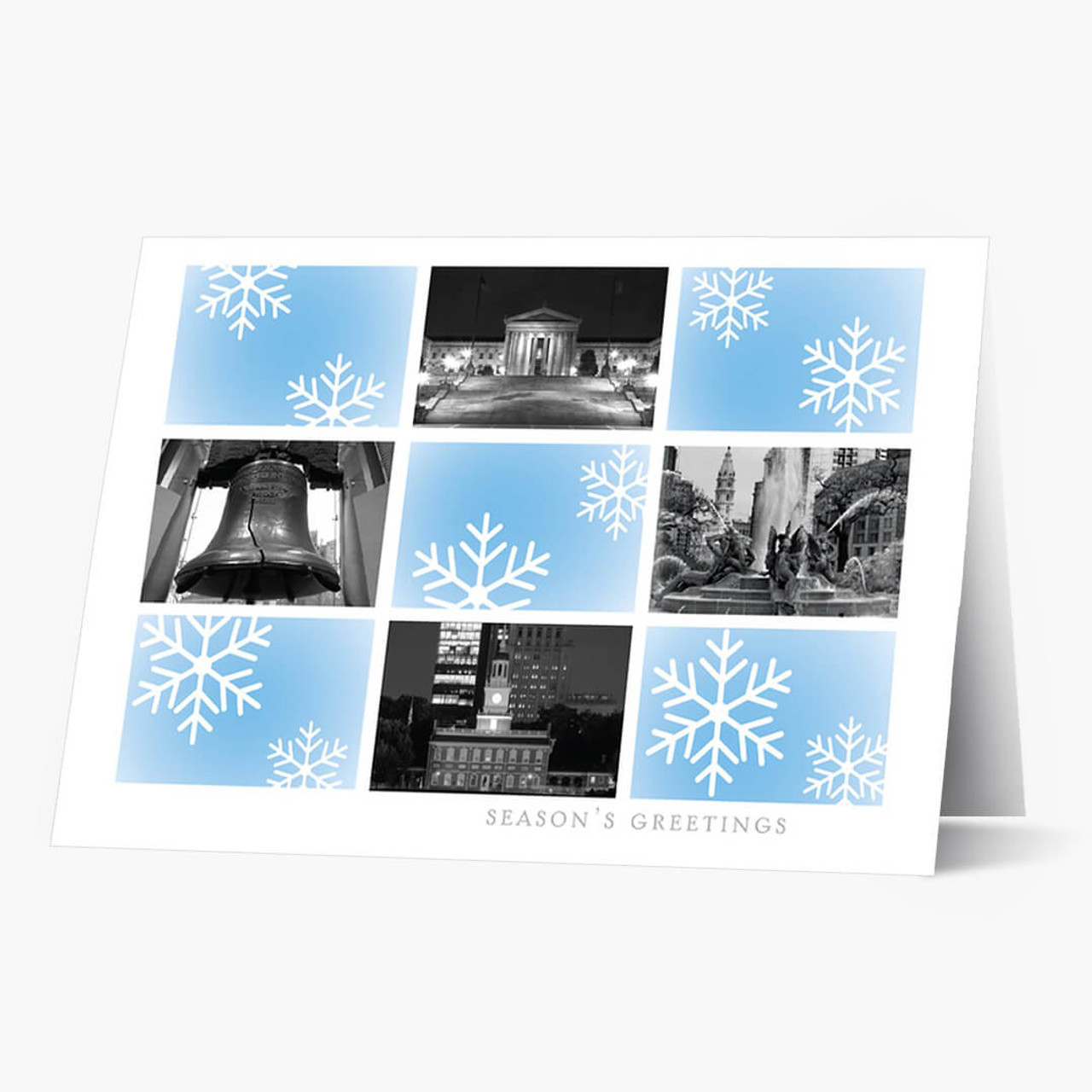 Philadelphia Snowflake  Christmas Card