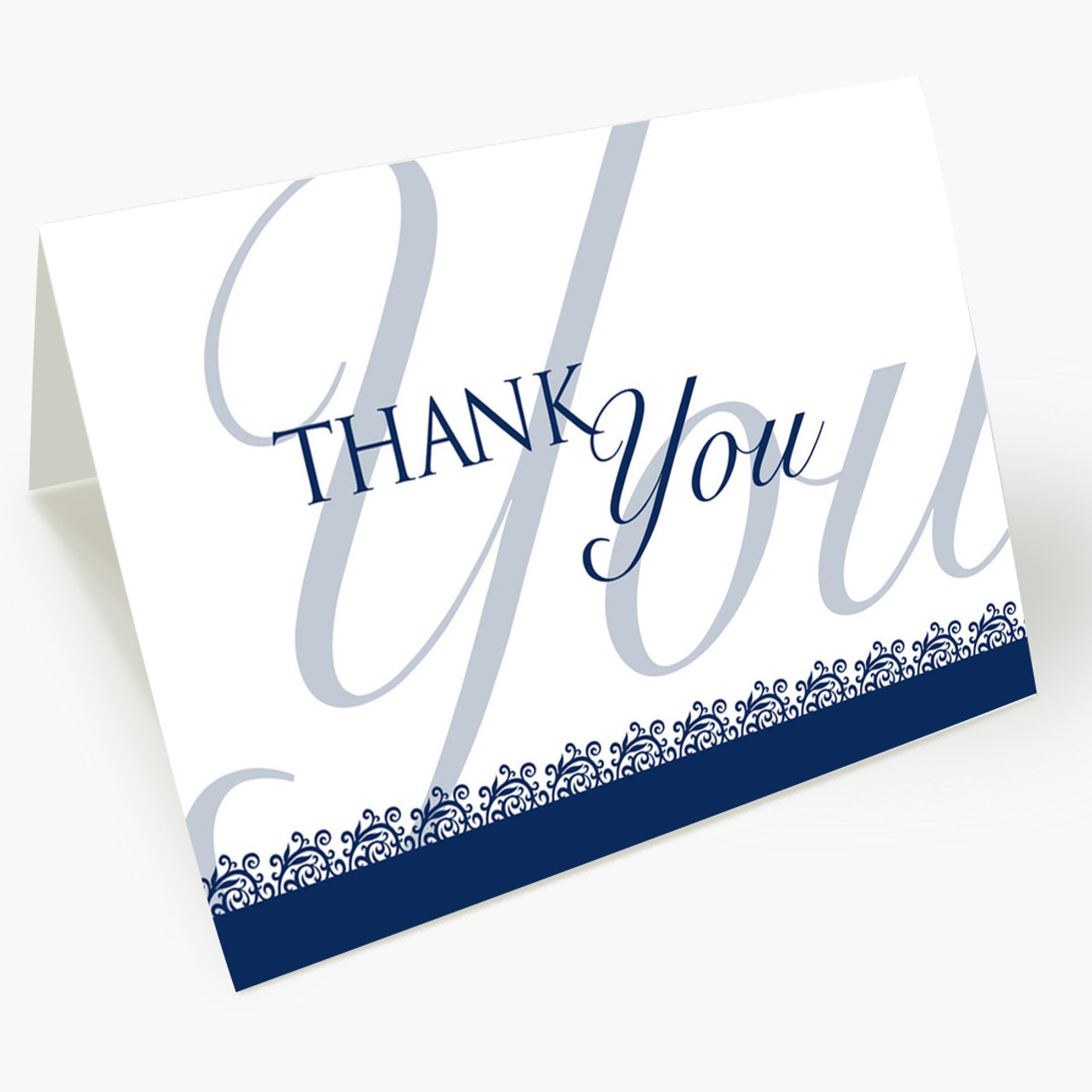 Blue Budget Thank You Card