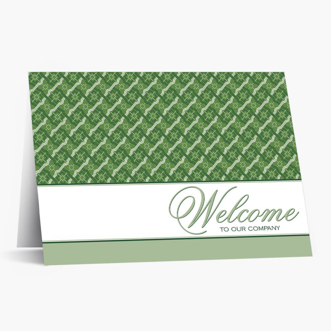 Green Pattern Welcome Card