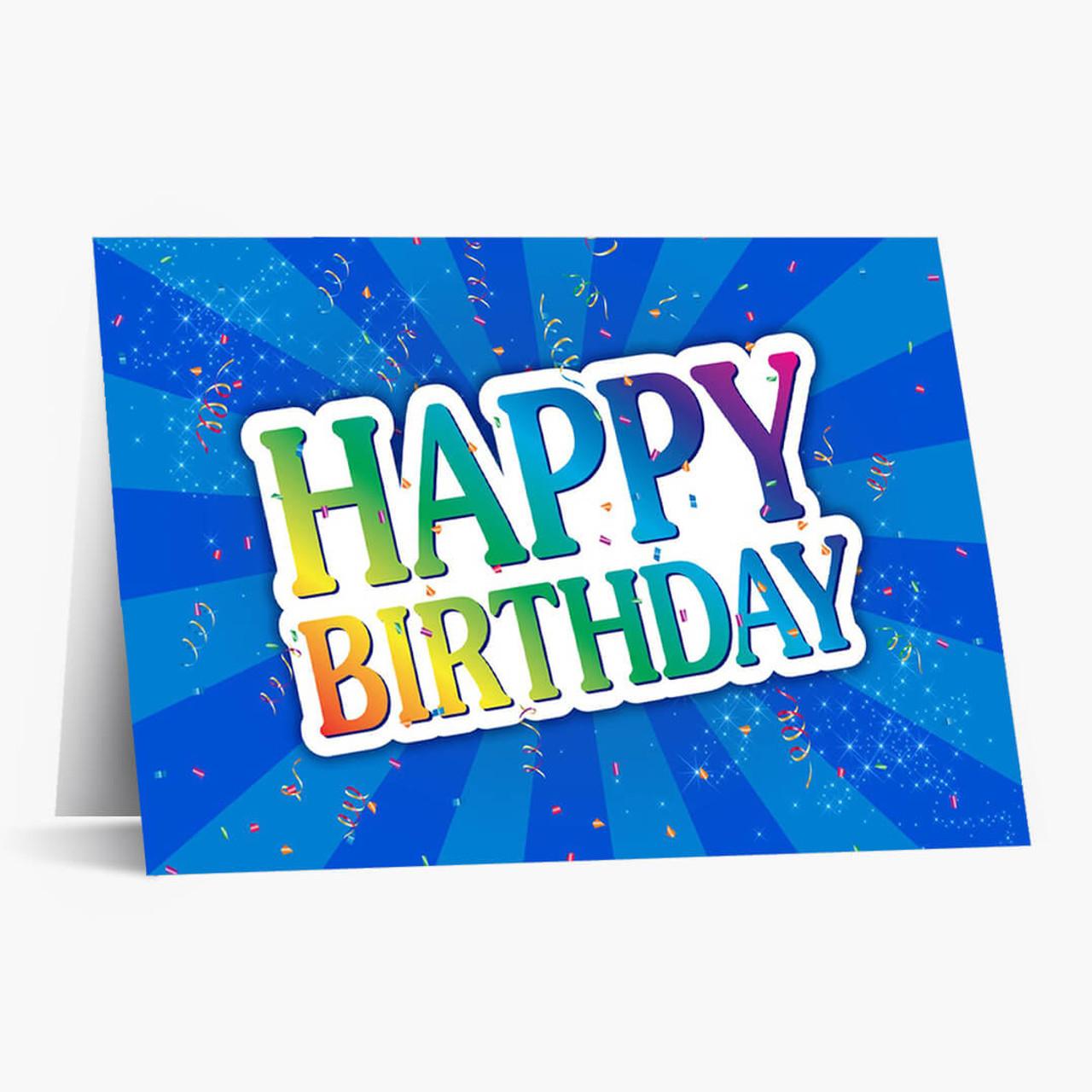 Bright Burst Birthday Card