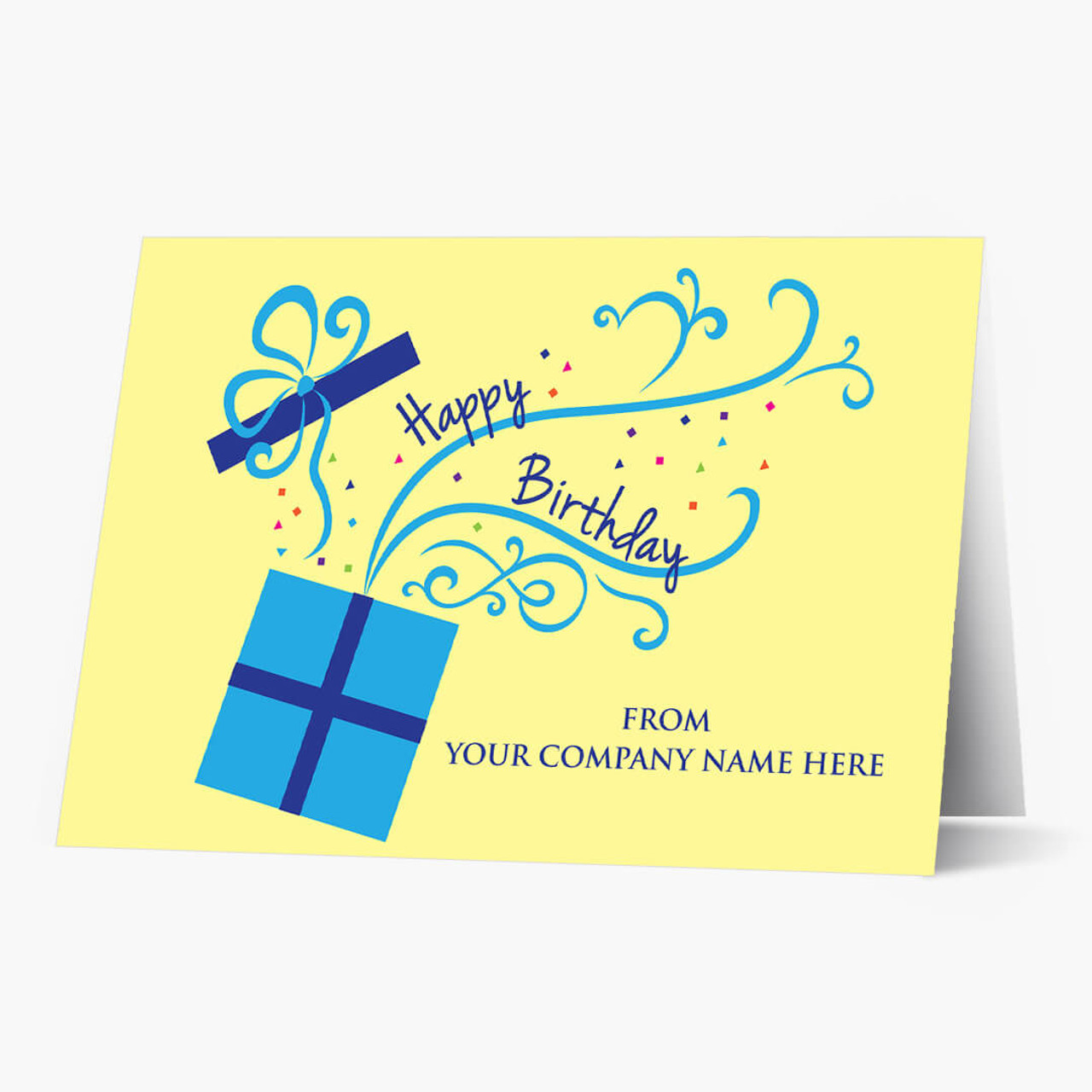 Front Imprint Business Birthday Card
