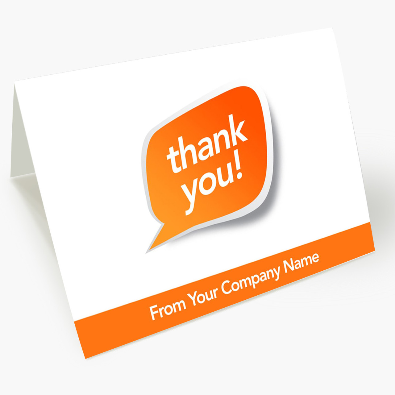 Speech Bubble Thank You Card