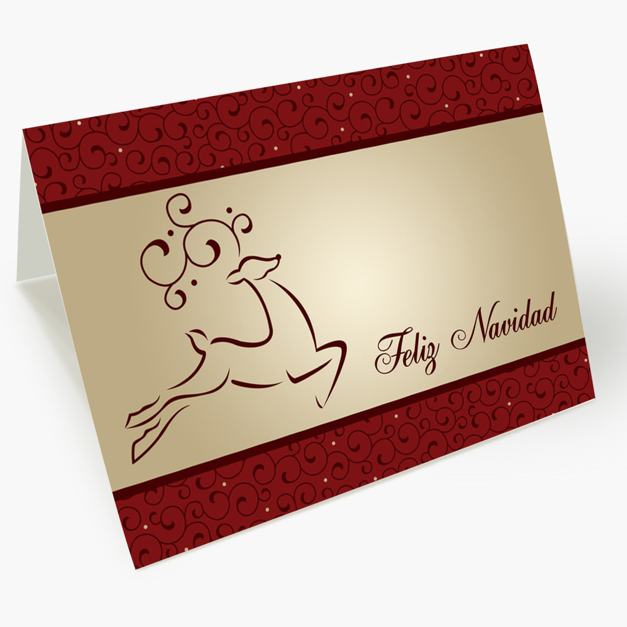 Prancing Deer Feliz Navidad Card