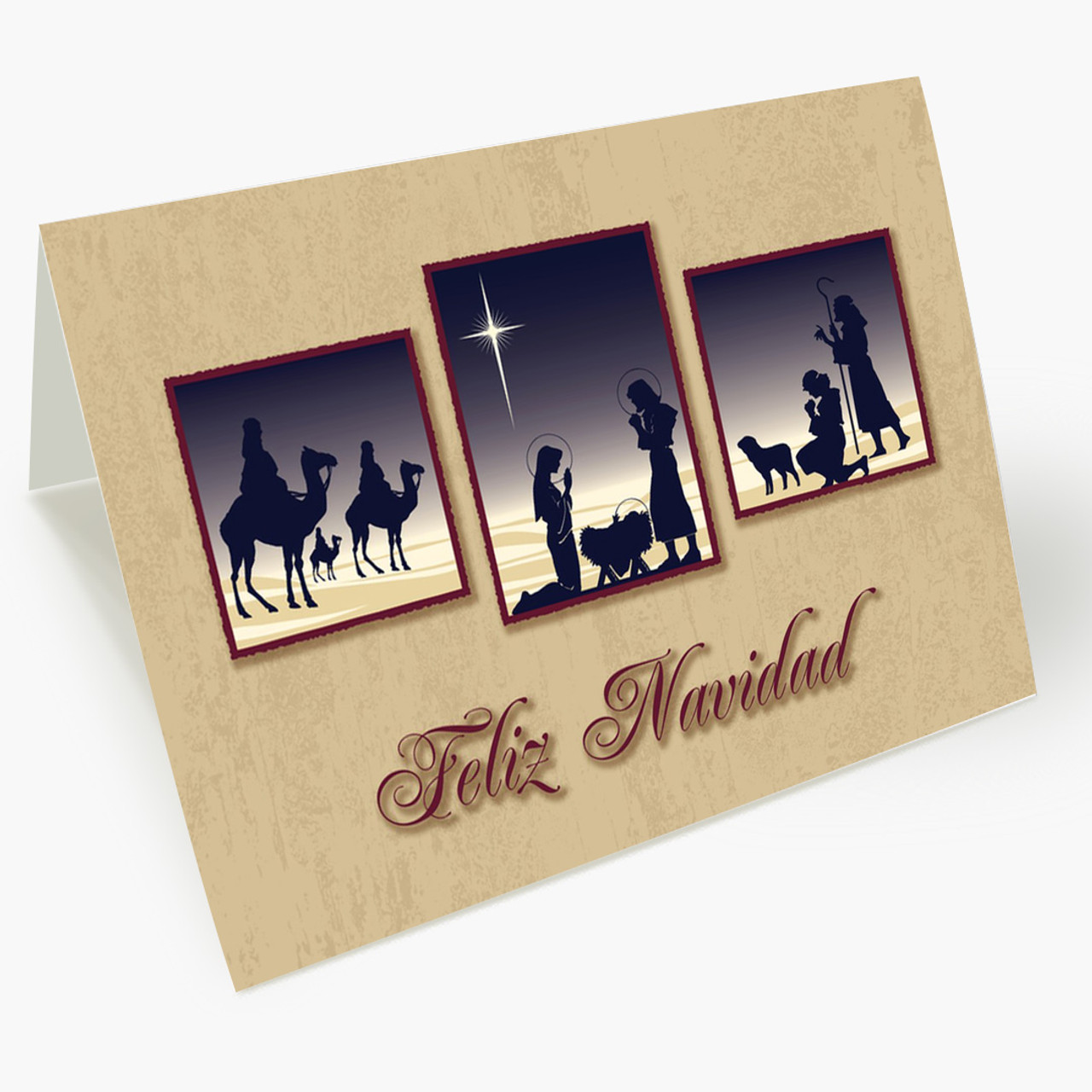 Religious Feliz Navidad Card