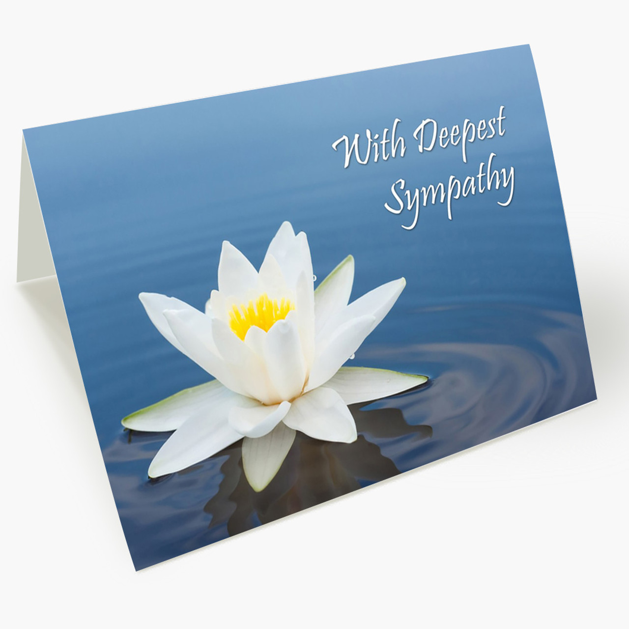 Blue Waters Sympathy Card