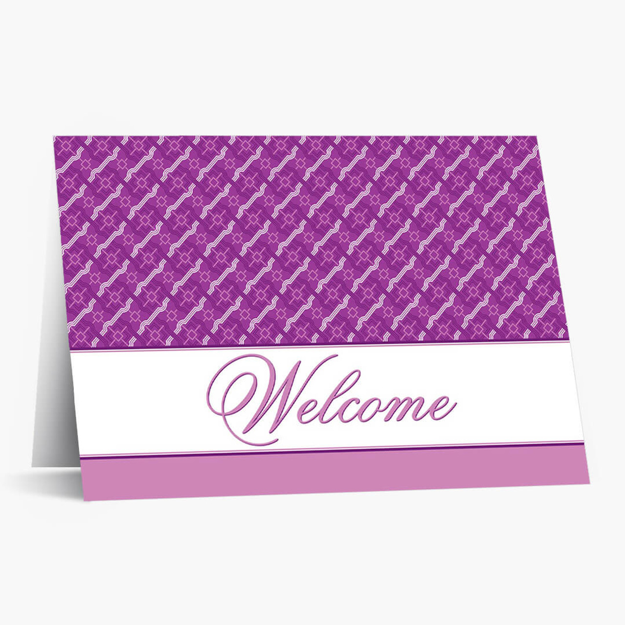 Purple Pattern Welcome Card