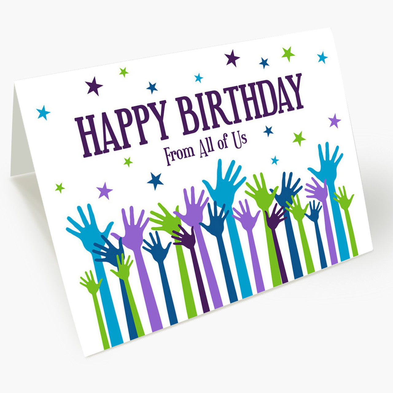 Good Wishes From All Birthday Card