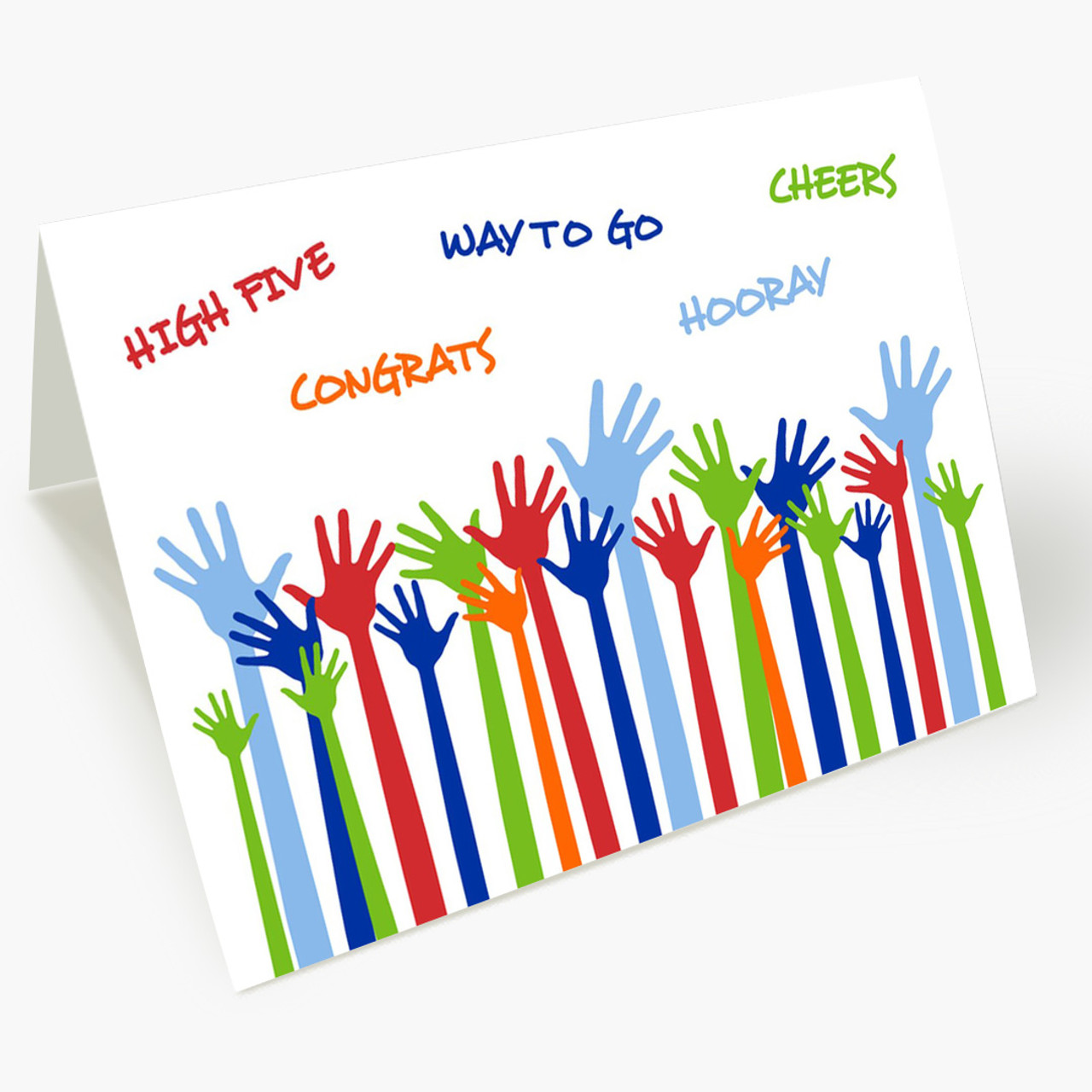 You Deserve A Hand Congratulations Card