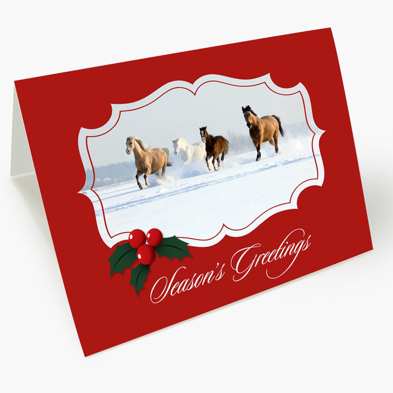 Galloping Snow Christmas Card