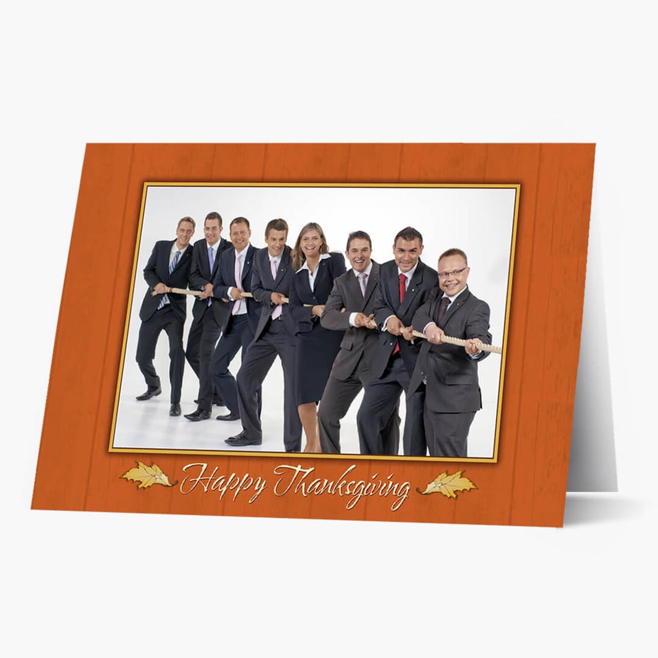 Photo Thanksgiving  - Matte Finish Card