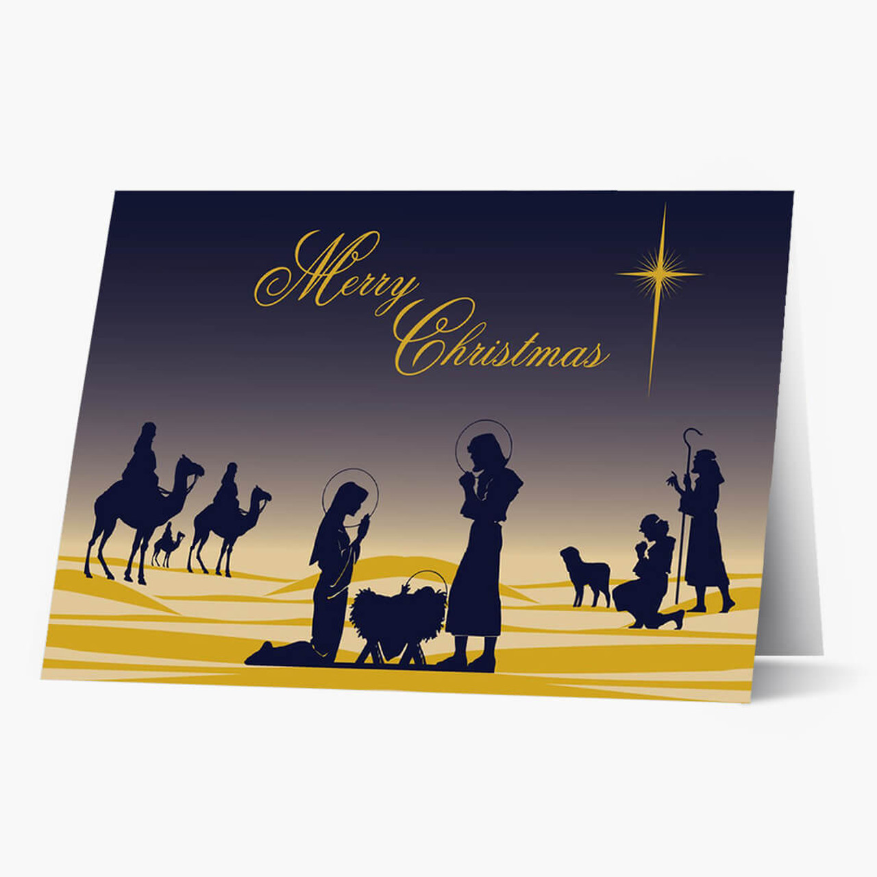 Holy Night Christmas Card