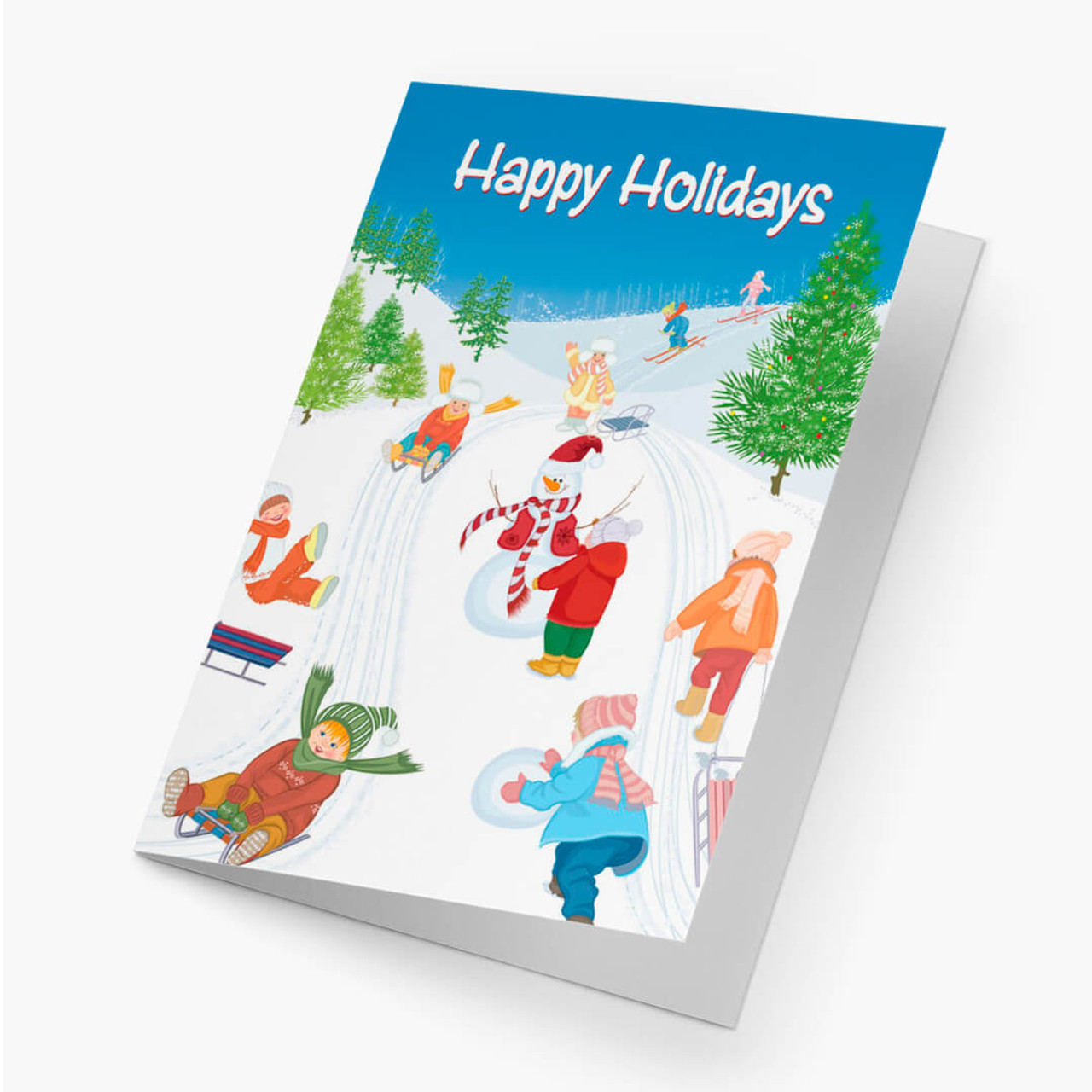 Children At Play Christmas Card