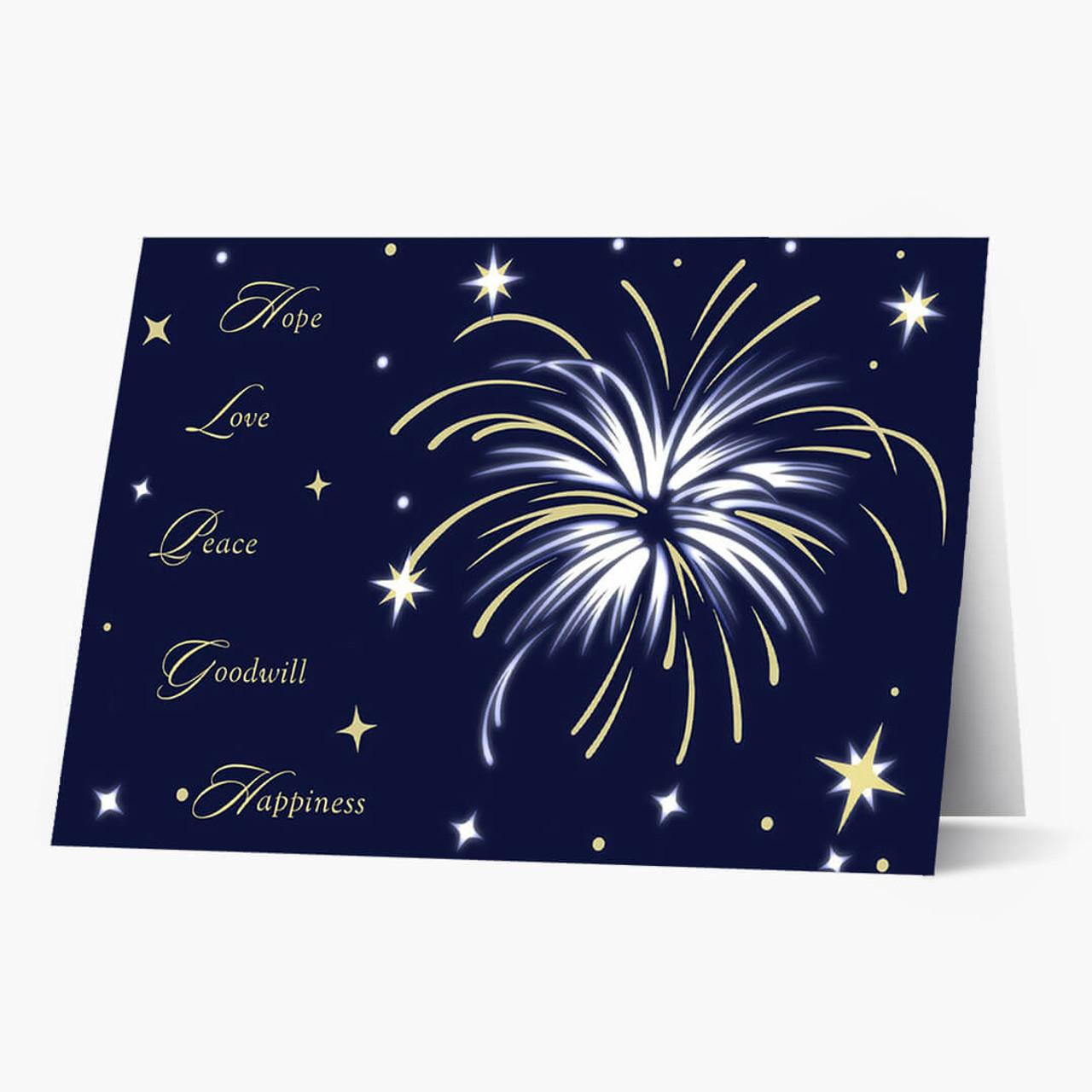 Bright Starburst Wishes Christmas Card