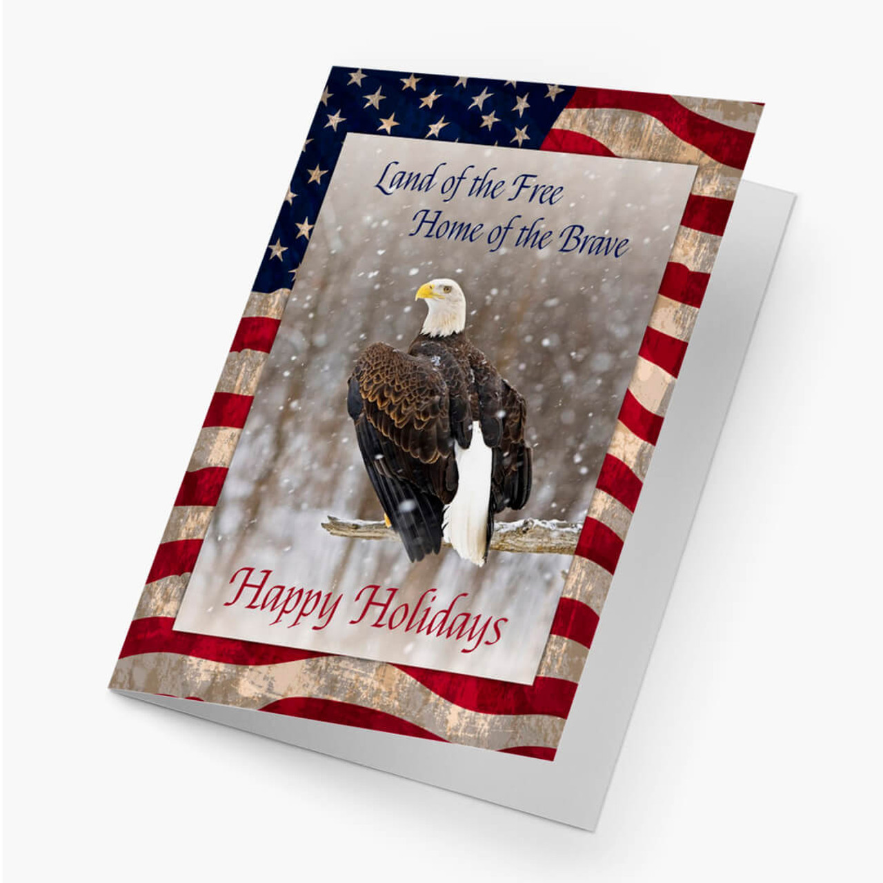 Proud Eagle Christmas Card