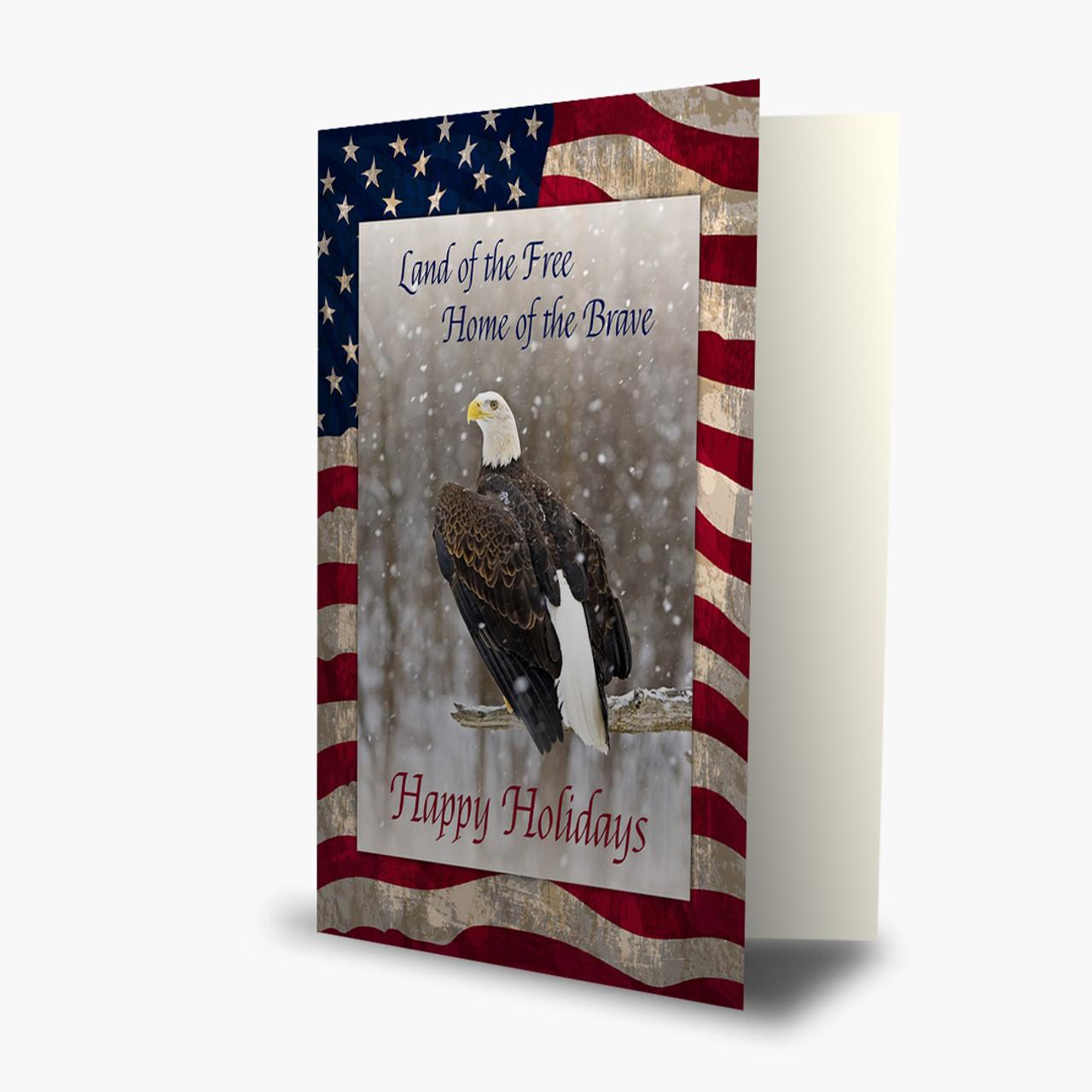 Proud Eagle Christmas Card