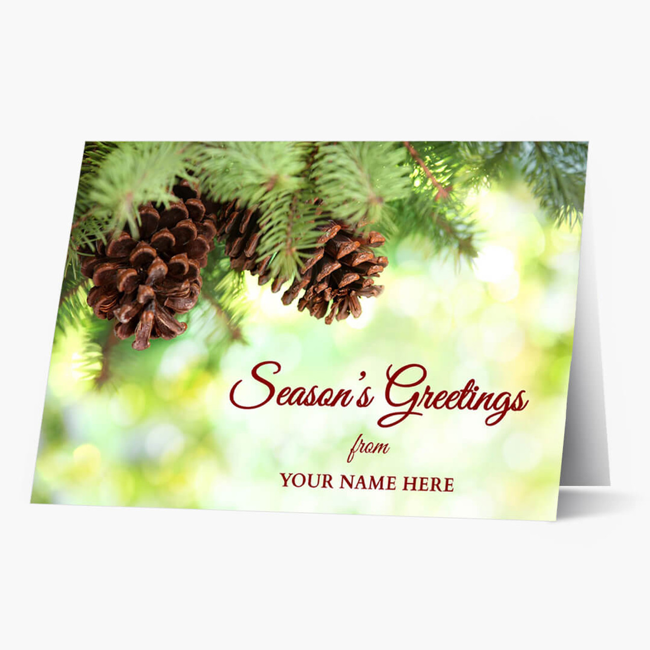 Pine Cone Greetings Christmas Card