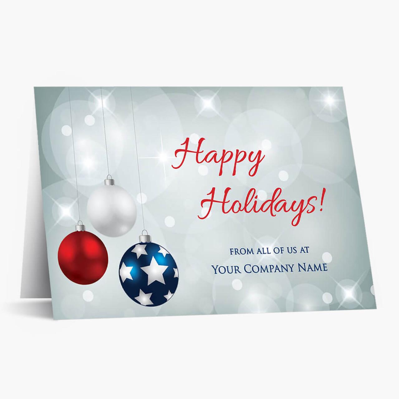 Patriotic Decor Christmas Card