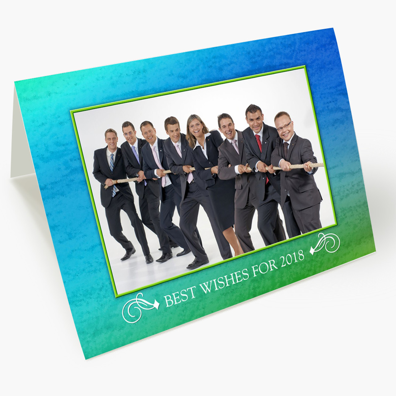 Best Wishes Photo - Matte Finish Christmas Card