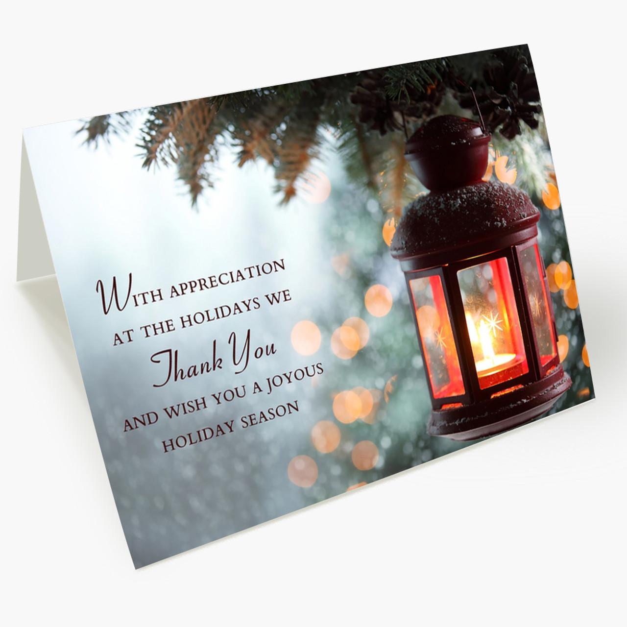 Grateful Business Appreciation Christmas Card