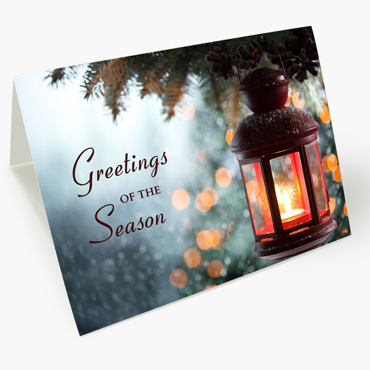 Soft Lantern Greetings Christmas Card
