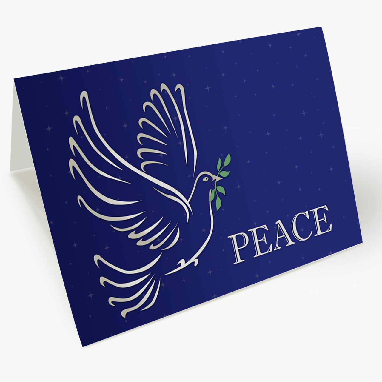 Dove With Olive Branch  Christmas Card