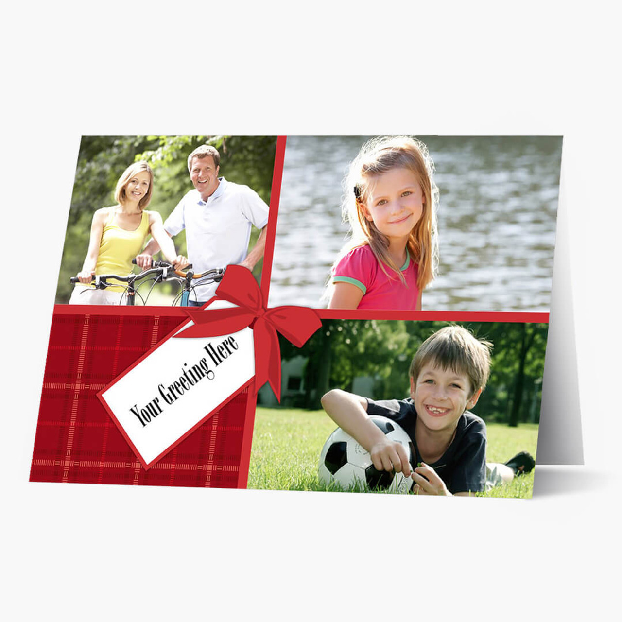 Gift Wrap Photos - Matte Finish Christmas Card