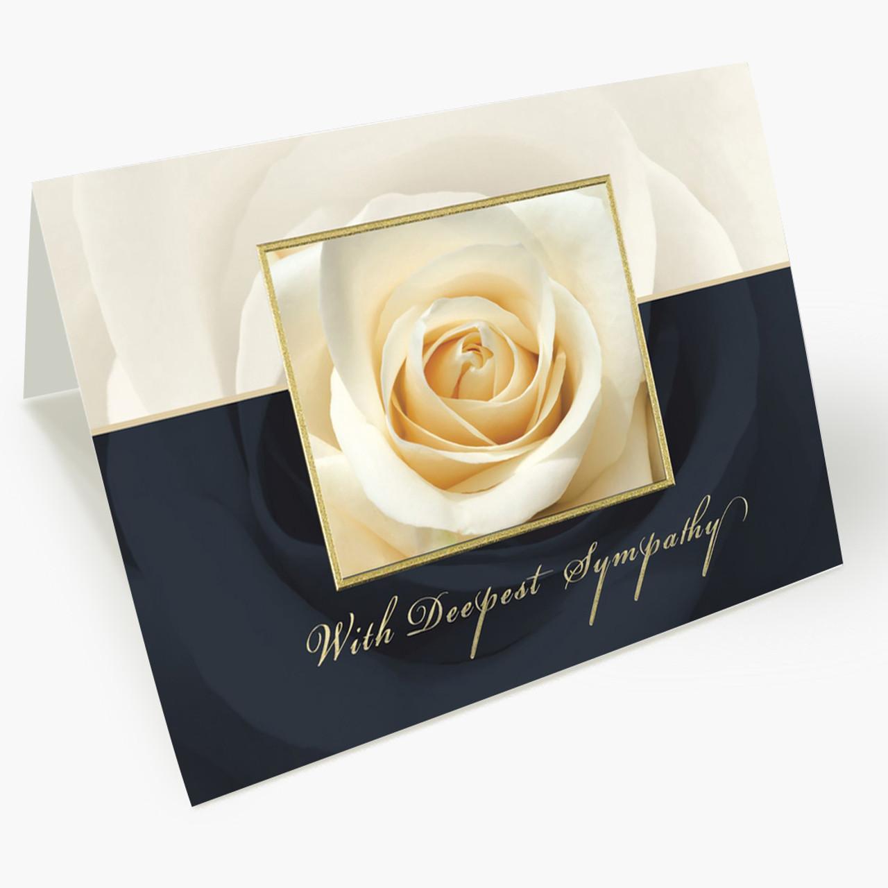 Ivory Rose Sympathy Card