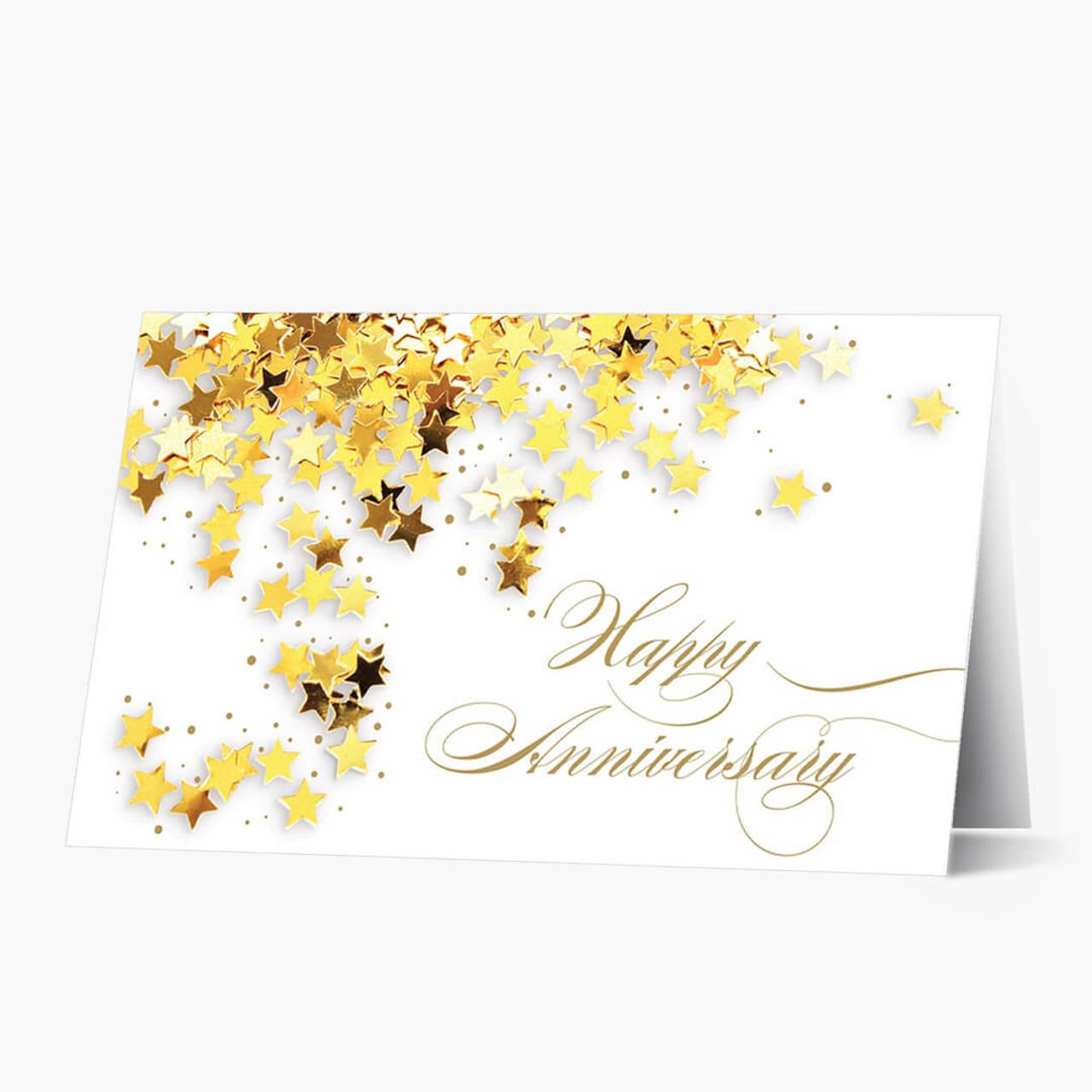 employee anniversary cards gold star anniversary card