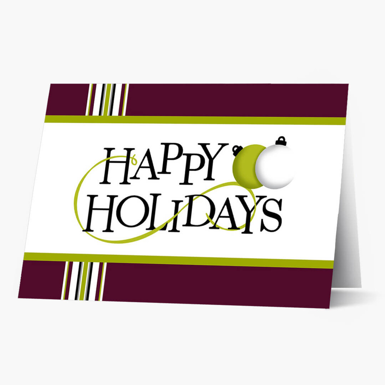 Perky Happy Holidays Christmas Card