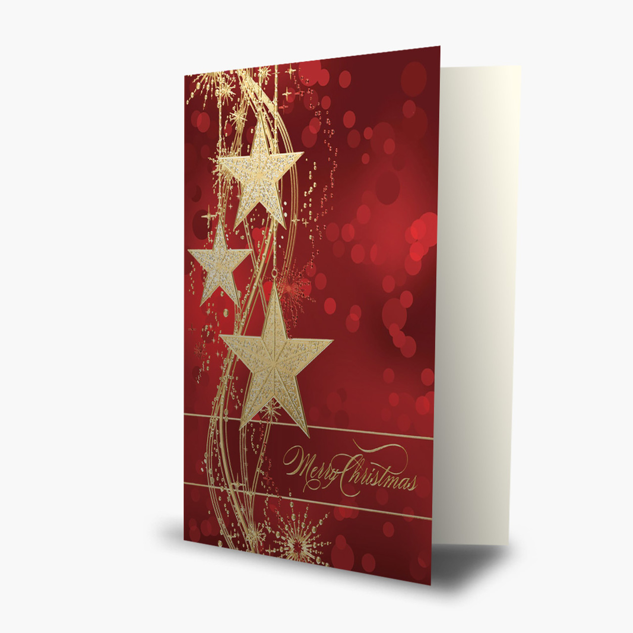 Glitzy Stars Christmas Card