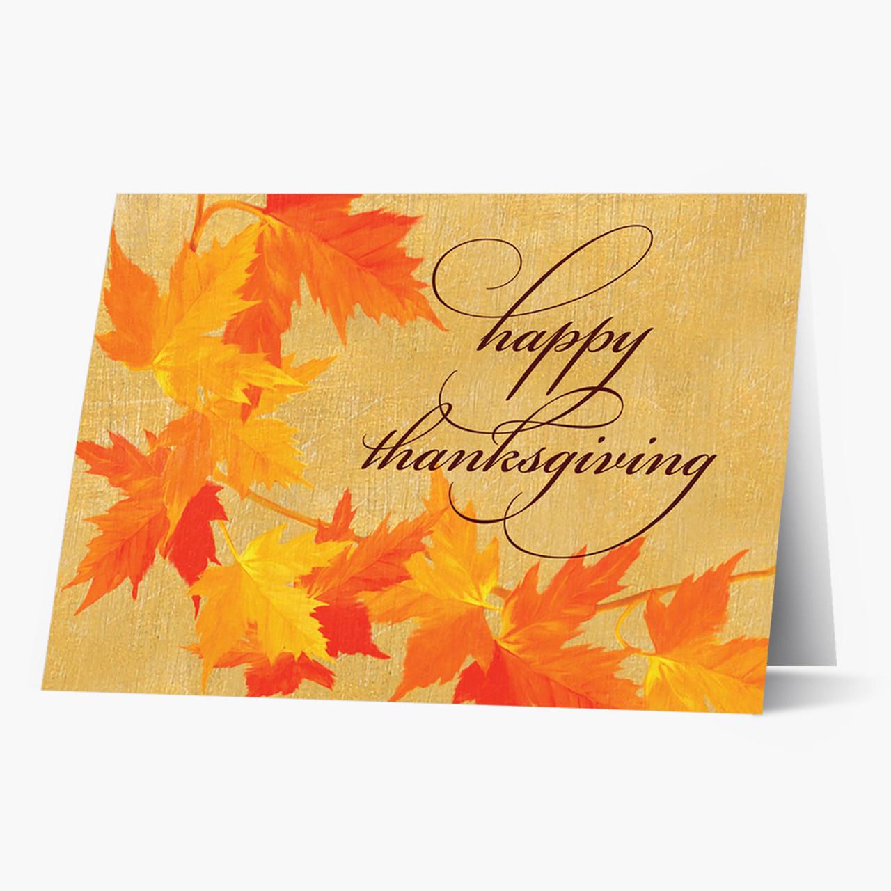 Autumn Garland  Thanksgiving Card
