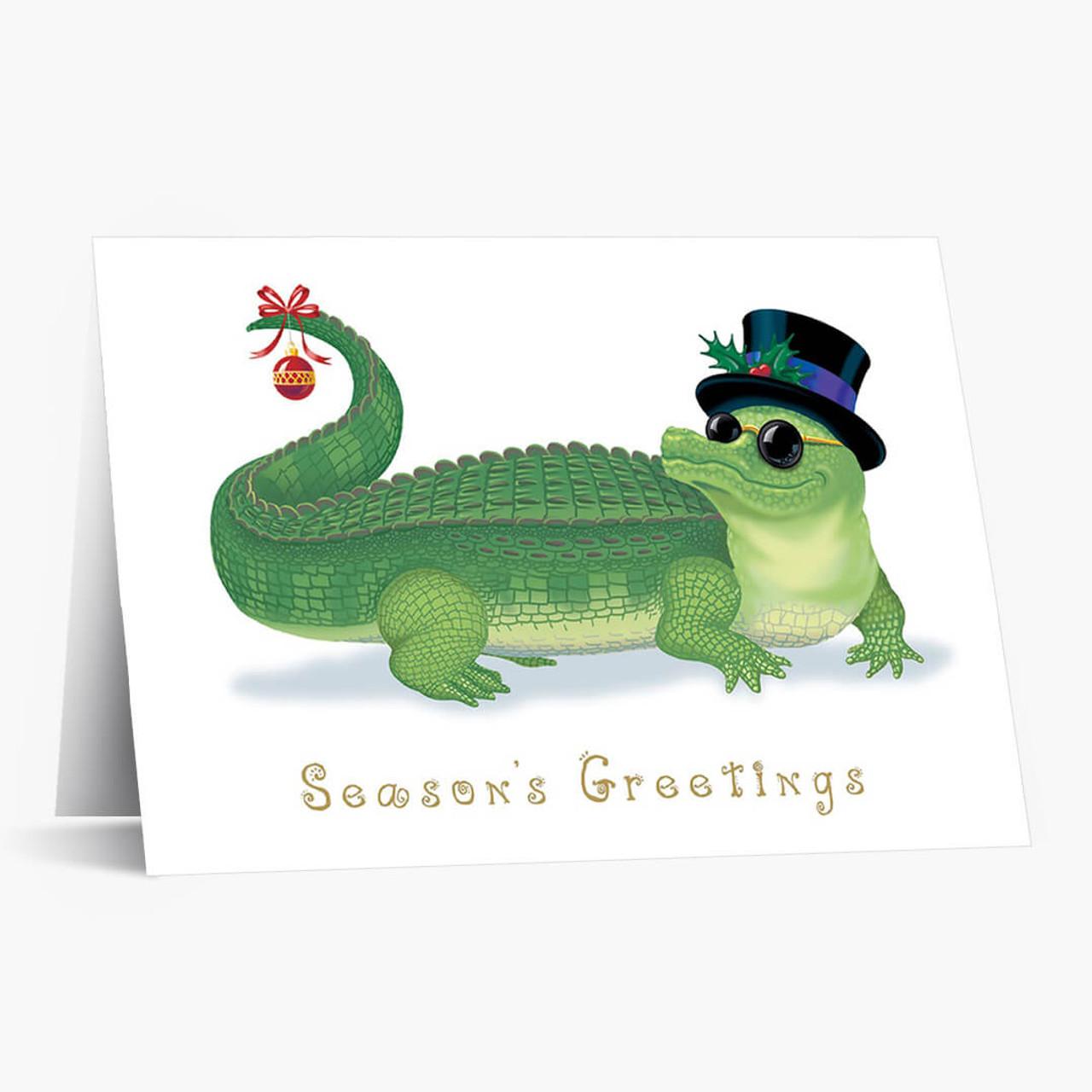 Gator Greeting Christmas Card