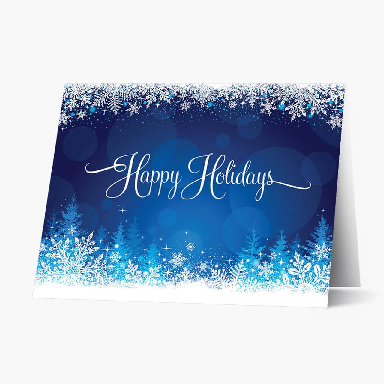 Snowy Glow Christmas Card