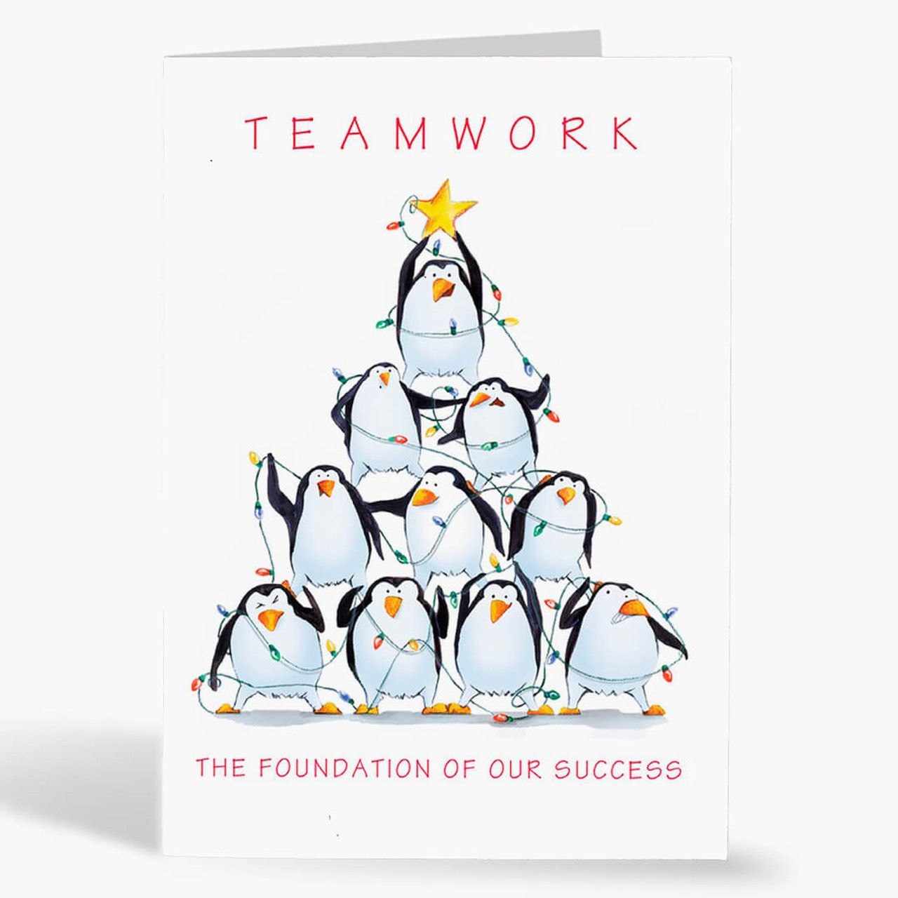 Teamwork Tree Christmas Card
