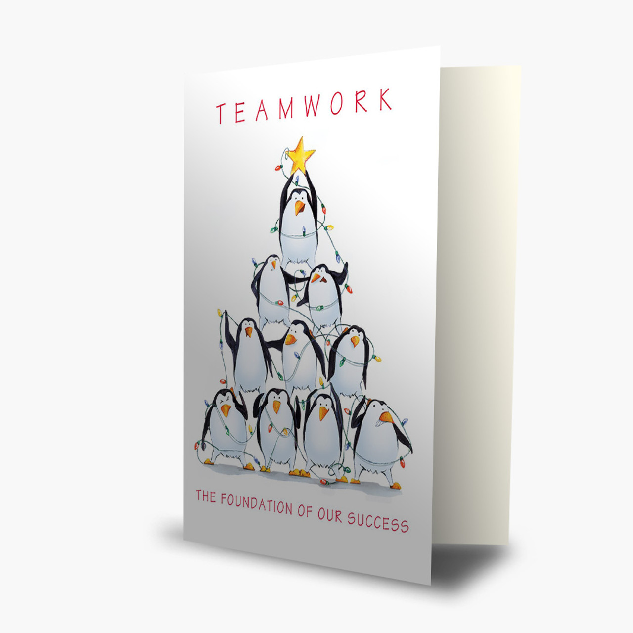 Teamwork Tree Christmas Card