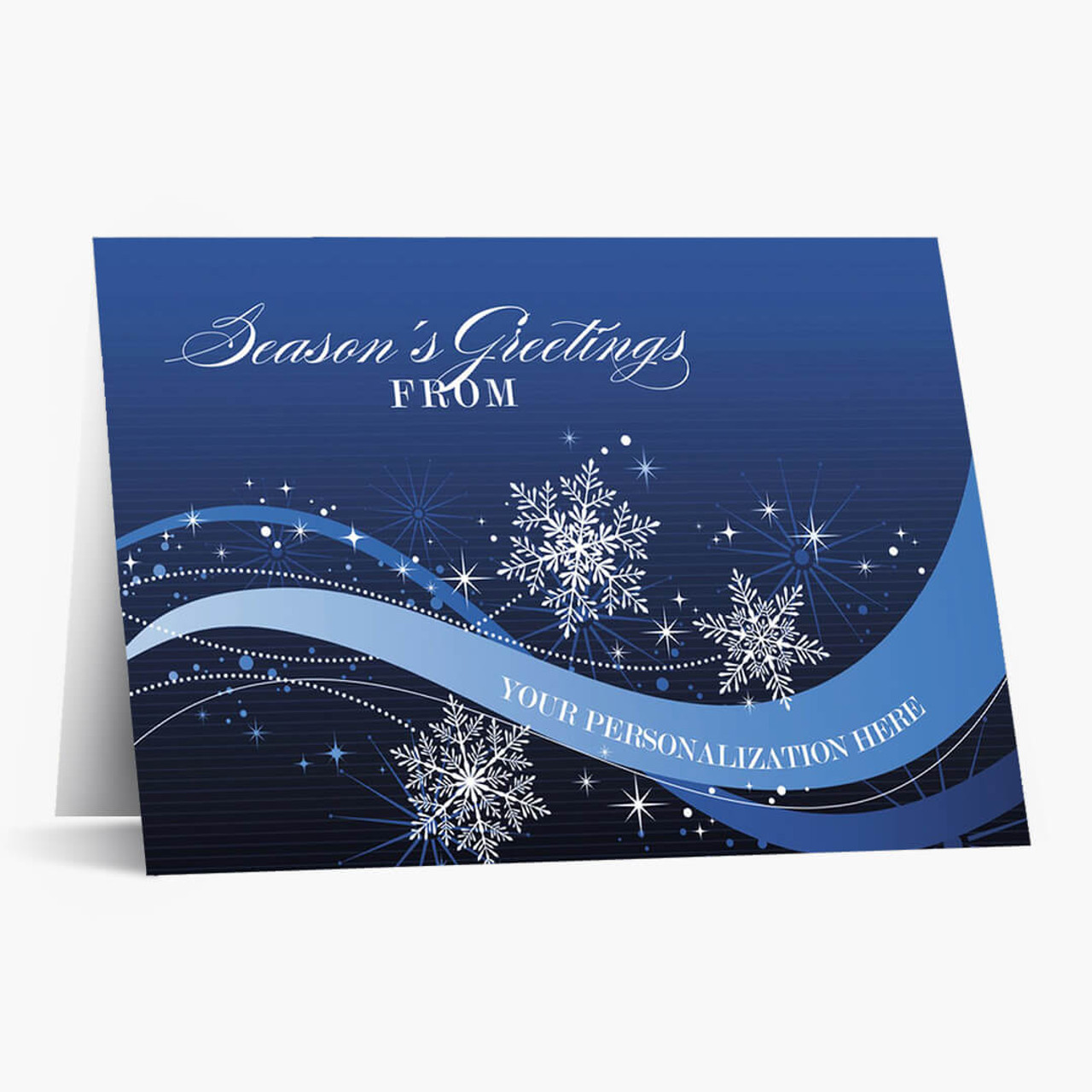 Sparkly Snowflakes Christmas Card