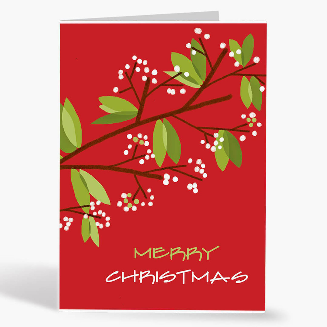 Twinkling Berries Christmas Card