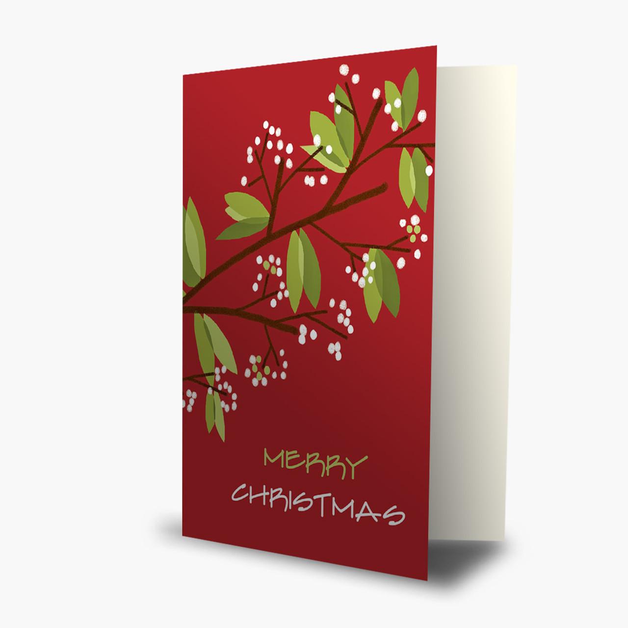 Twinkling Berries Christmas Card