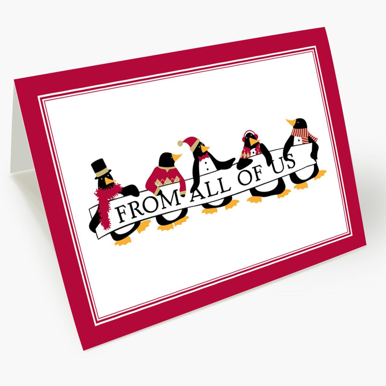 Penguin Parade Christmas Card