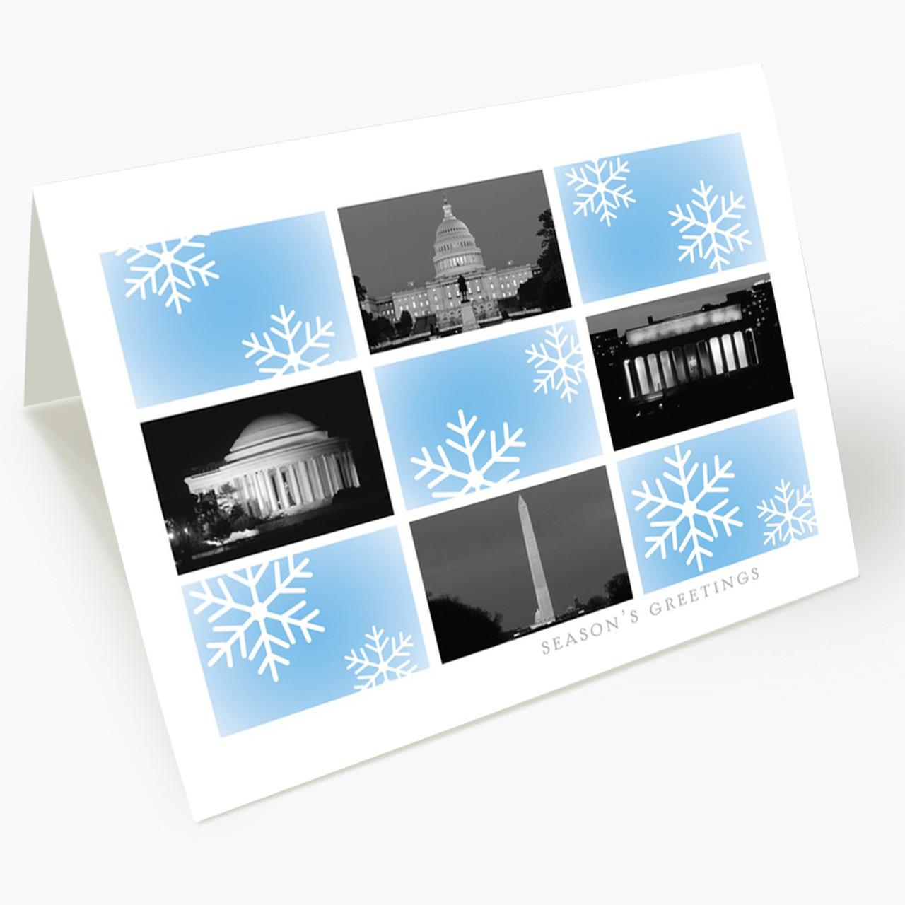 Washington DC Snowflake Christmas Card