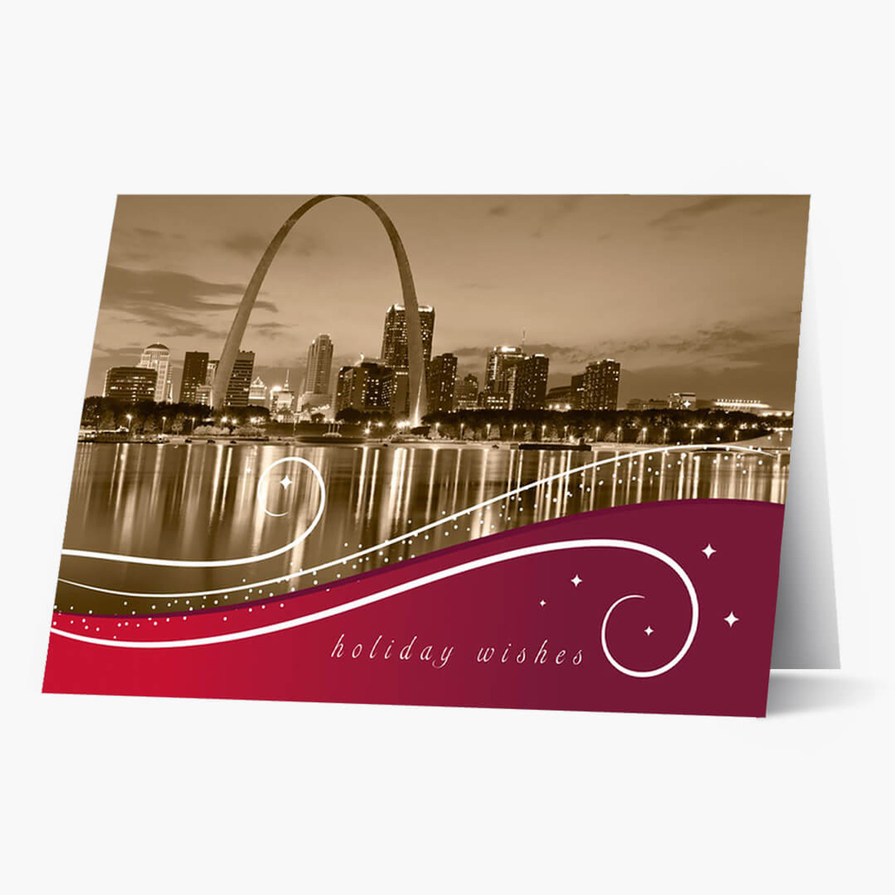 St Louis Swirls Christmas Card