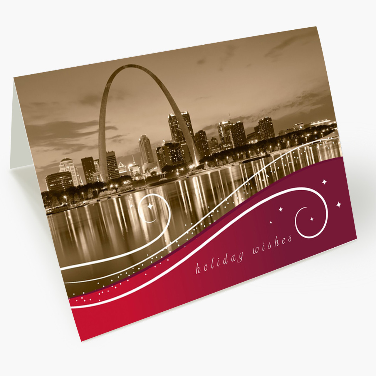 St Louis Swirls Christmas Card