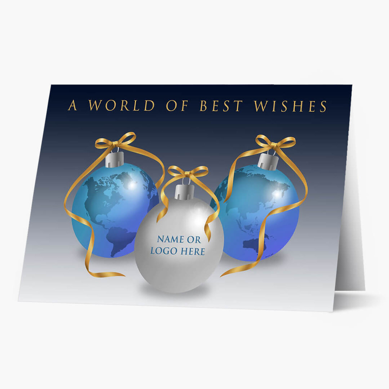 Global Front Imprint Christmas Card
