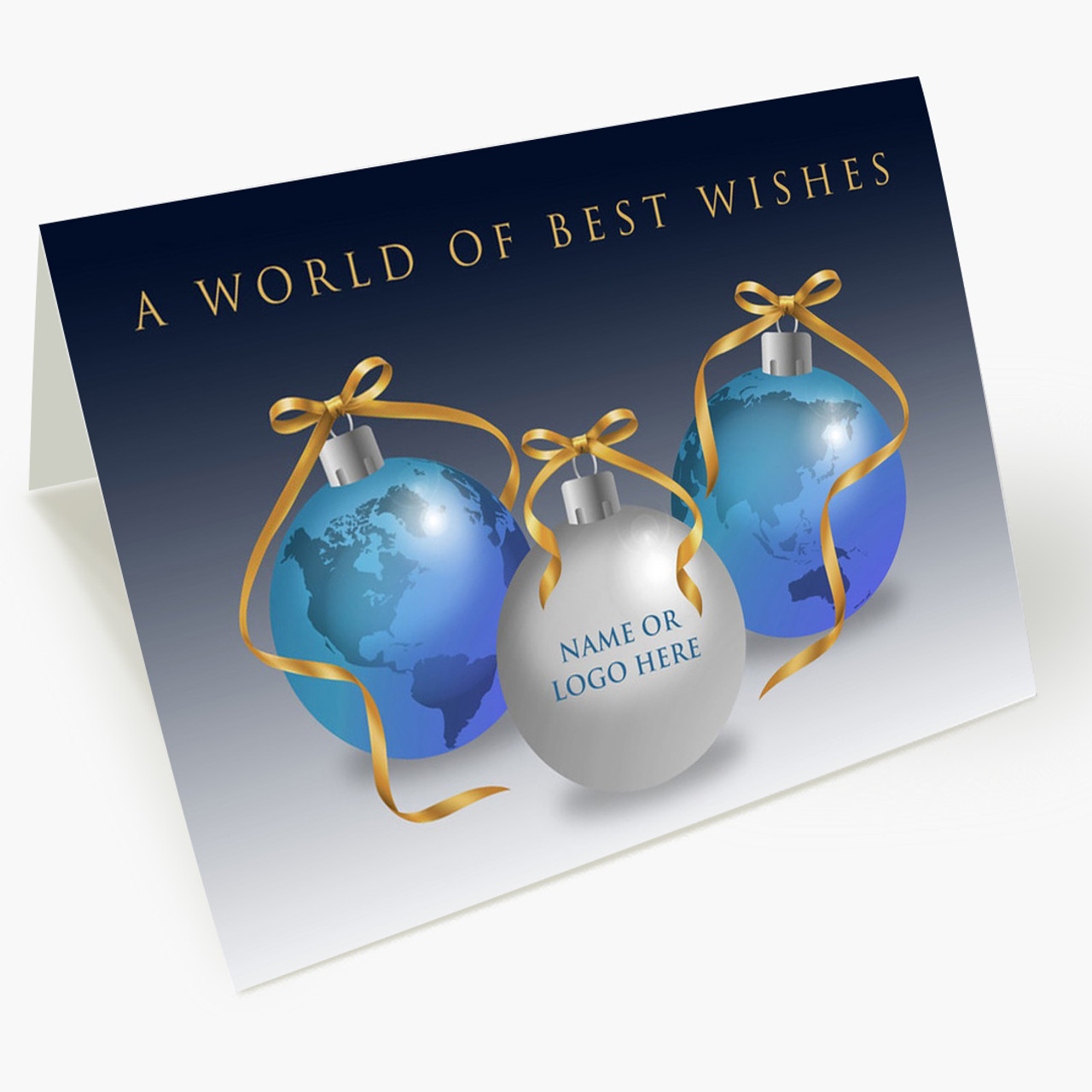 Global Front Imprint Christmas Card