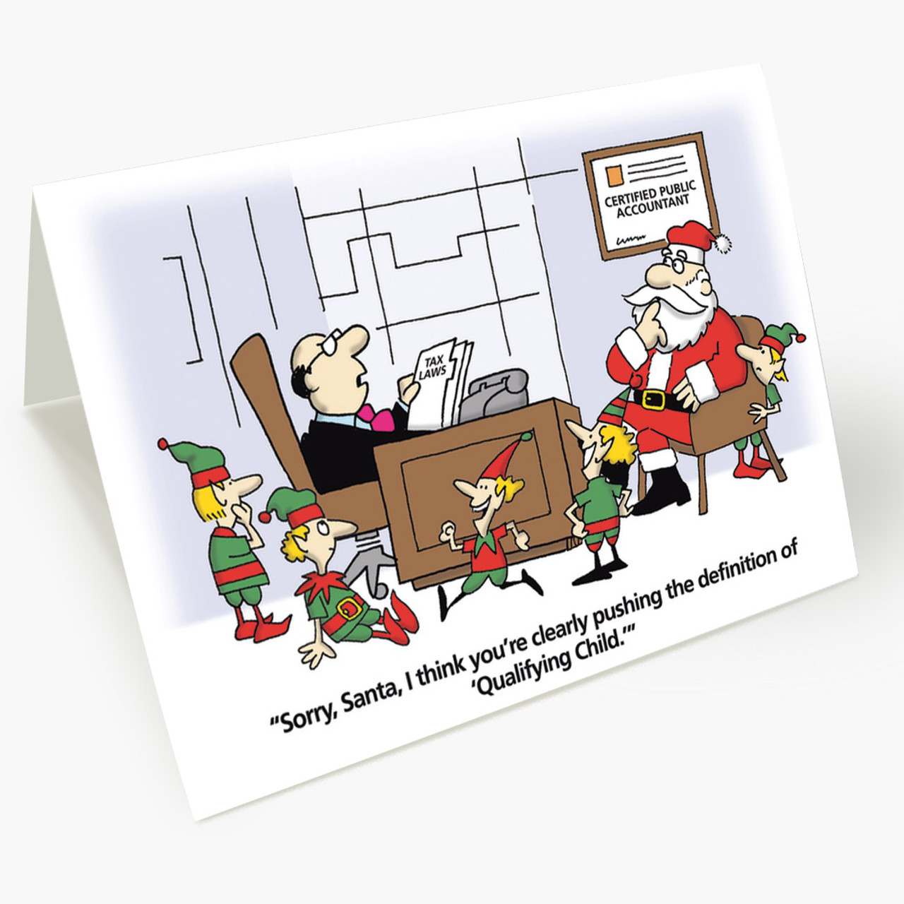 Santa Accounting Christmas Card