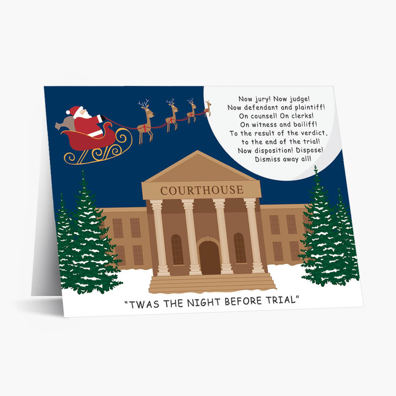 Night Before Trial Christmas Card