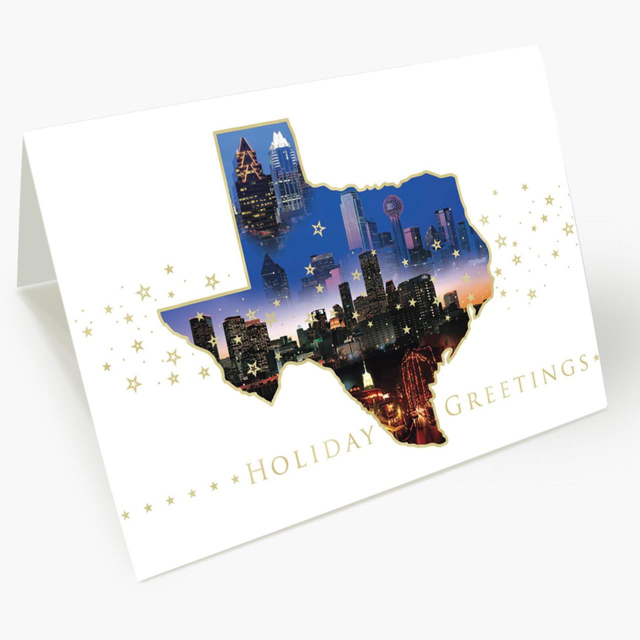 Texas City Sights Christmas Card